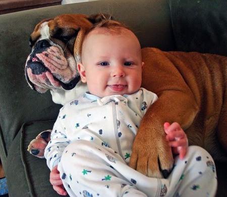 dogs kids together