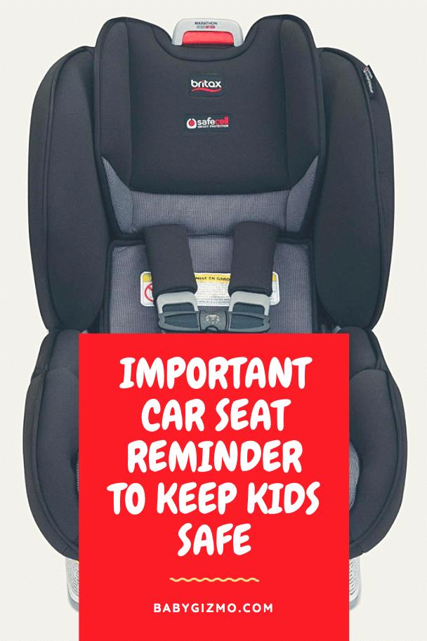 important car seat reminder
