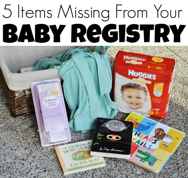 5 Items Missing From Your Baby Registry