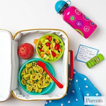 lunch ideas in open lunch box