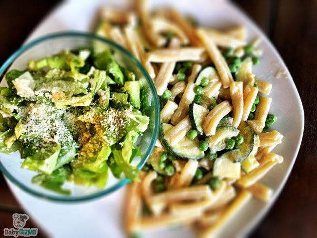 Blue Apron salad and pasta dish