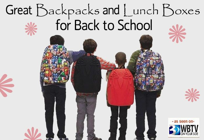 Fun Backpacks and Lunch Boxes As Seen On TV