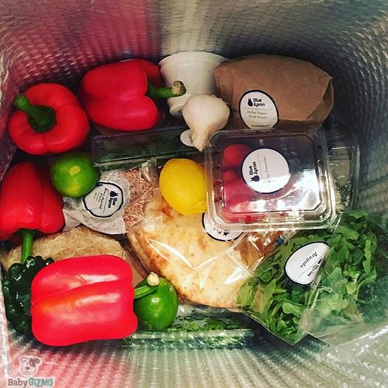 Blue Apron ingredients in bag