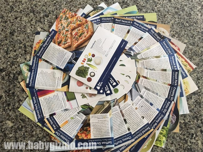 blue apron recipe cards