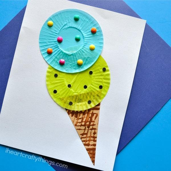 cupcake liner ice cream cone
