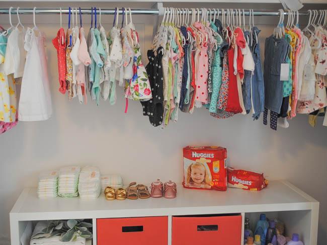huggies nursery closet