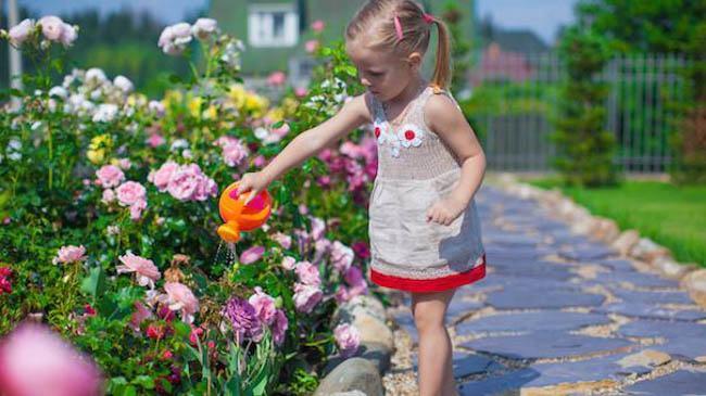 toddler watering chores