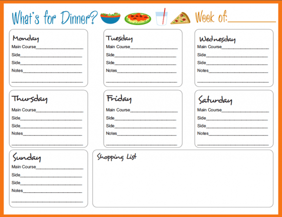 Meal Planner Calendar : How to meal plan save money
