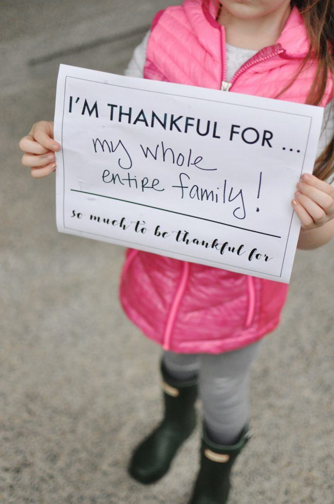 """I'm Thankful For"" Photo Opp — Free Thanksgiving Printable"