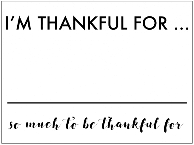 I'm thankful for - photo opp sign