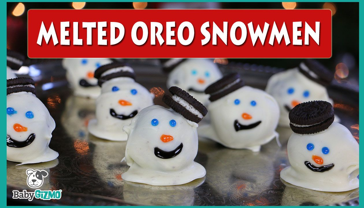 Oreo Melted Snowman Dessert Baby Gizmo
