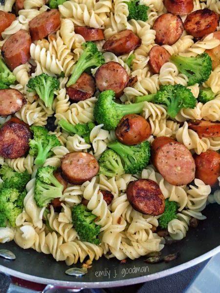 21 day fix Pasta-Broccoli-Chicken-Sausage-add-pasta
