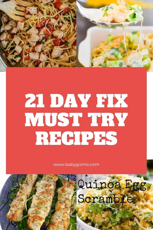 21 day fix recipes
