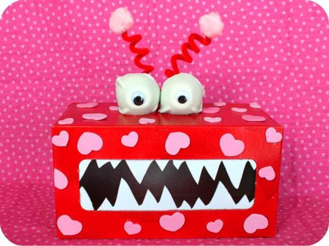 Valentine's monster box 4 toddler