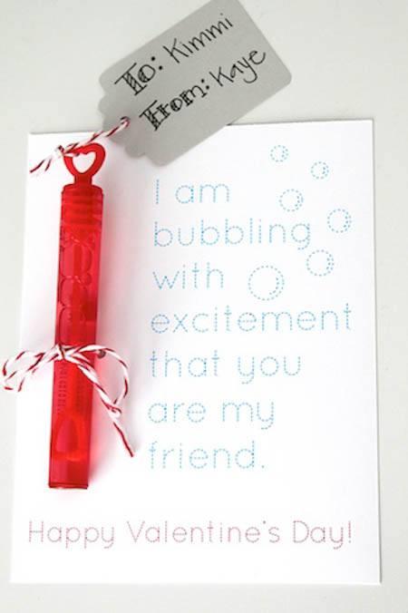bubble valentine's
