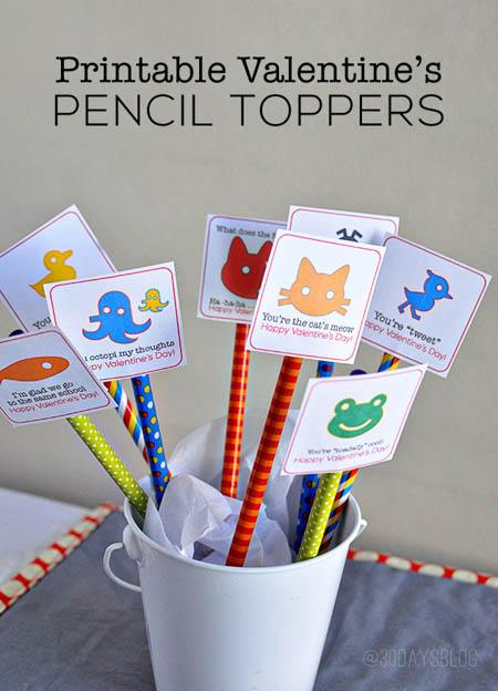 pencil toppers valentine