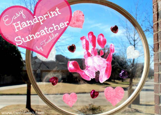 toddler craft suncatcher