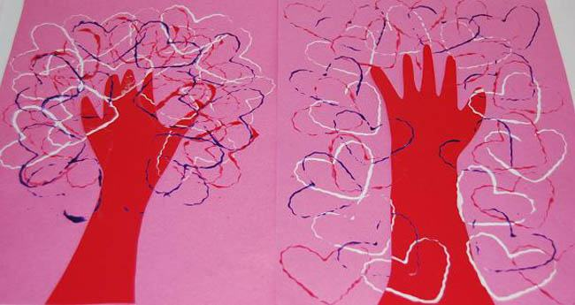 toddler valentine's craft tree