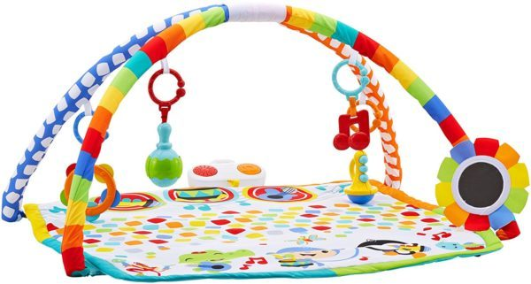 colorful play mat with white background