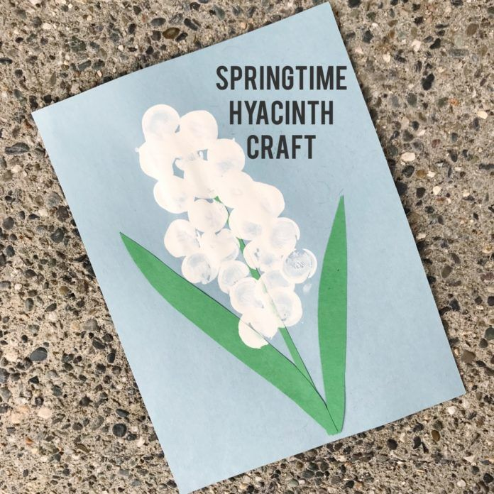 Springtime Hyacinth Craft for You and Your Kids