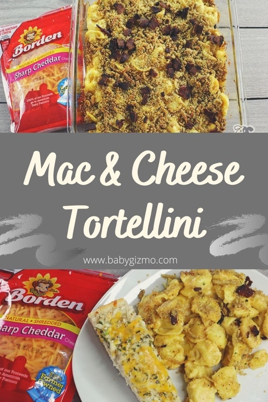 Mac and Cheese Tortellini and Cheesy Garlic Bread Recipes