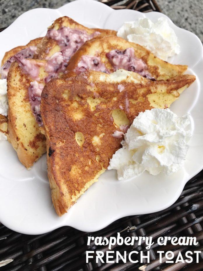 Raspberry Cream French Toast