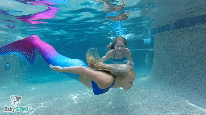 Mermaids In The Pool With Finfun Baby Gizmo