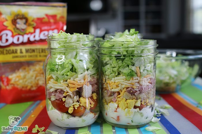 Easy Lunch Salad in a Jar
