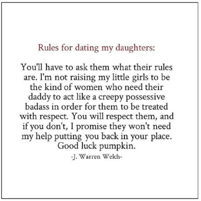 Yet Another Set of Rules for Dating Dad's Daughter?!