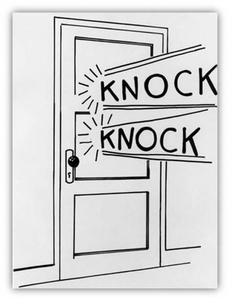 mess knock on door