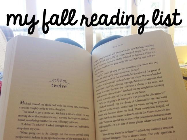 my fall reading list