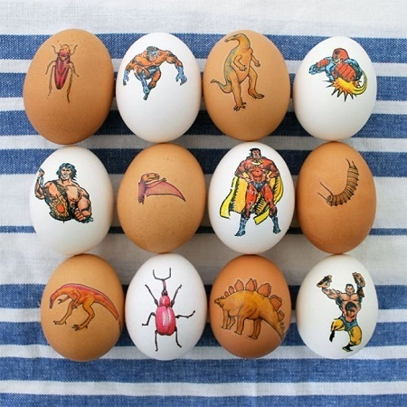 Easter egg with tattoo
