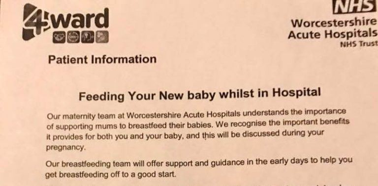 UK Hospital Tells Pregnant Moms to Bring Their Own Formula
