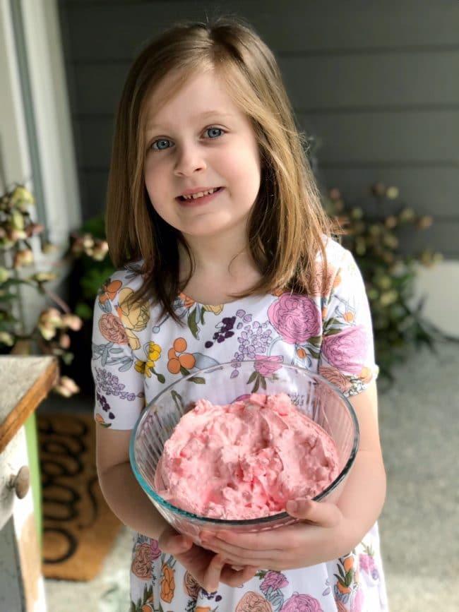 Princess Pink Jello Salad