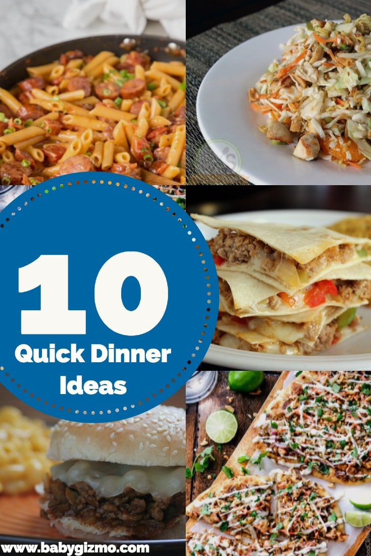 quick family dinner ideas for end of school year | baby gizmo