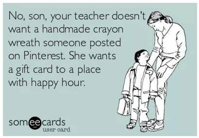 waste teacher gift meme