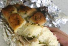 Foil Pouch Grilled Pesto Chicken Sandwiches
