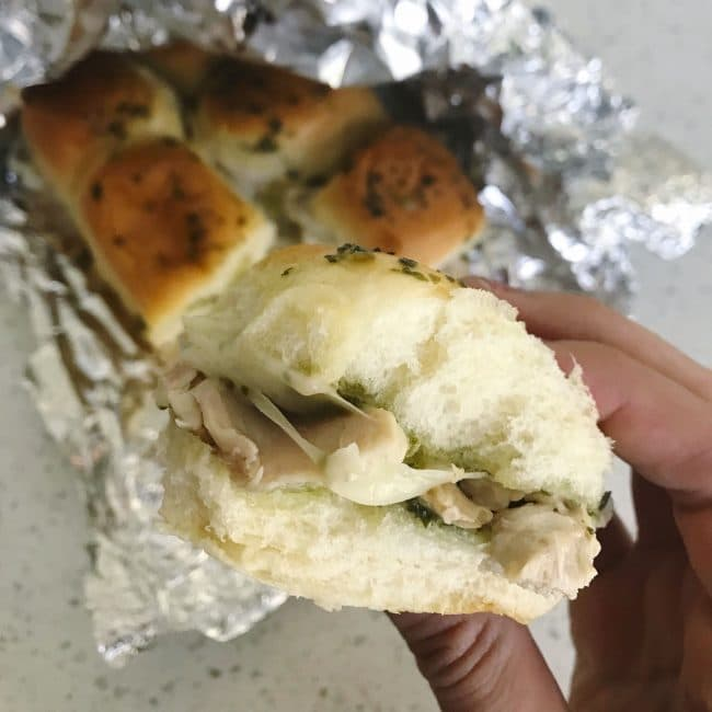 Foil Pouch Grilled Pesto Chicken Sandwiches