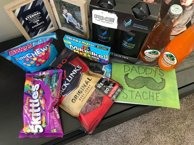 Daddy's Stache of candy and goodies