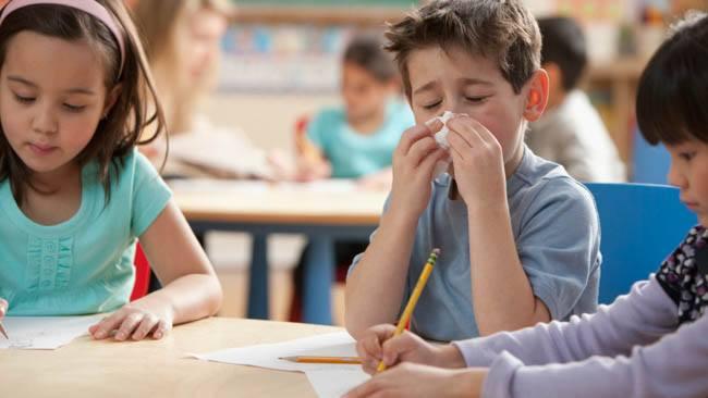 sick kid in class