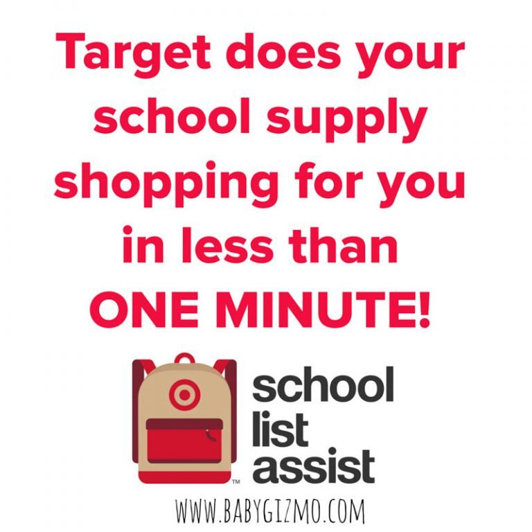 Buy Your School Supplies in Less Than One Minute with Target!