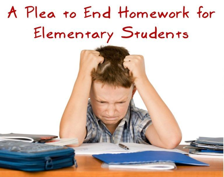 A Plea to End Homework for Elementary Students