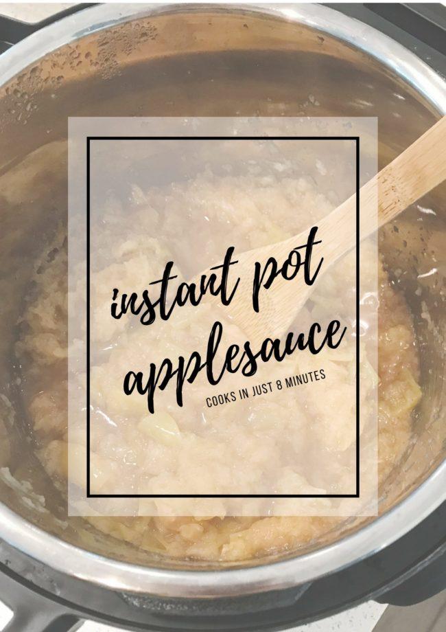 Instant Pot Applesauce In Just 8 Minutes