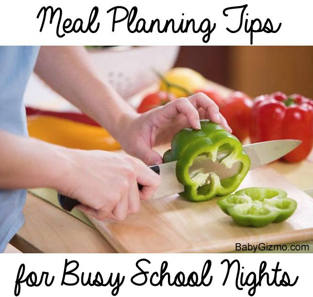 Meal Planning Tips for Busy School Nights