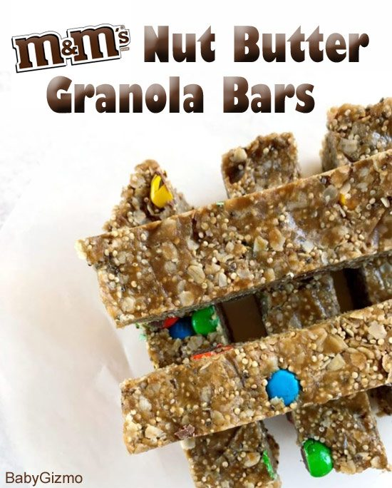 Recipe: M&M Nut Butter Granola Bars