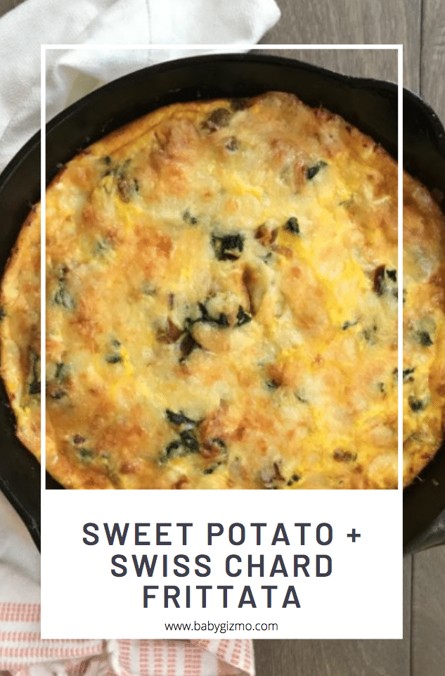 sweet potato swiss chard frittata