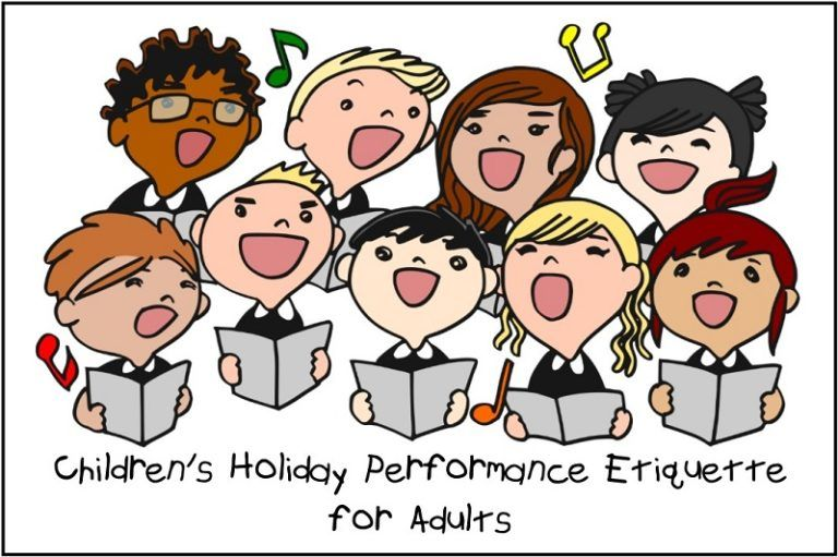 Children's Holiday Performance Etiquette for Adults