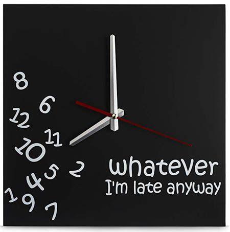 white elephant clock
