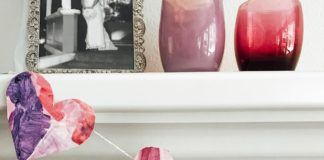 Valentine Art Project: Watercolor Heart Banner