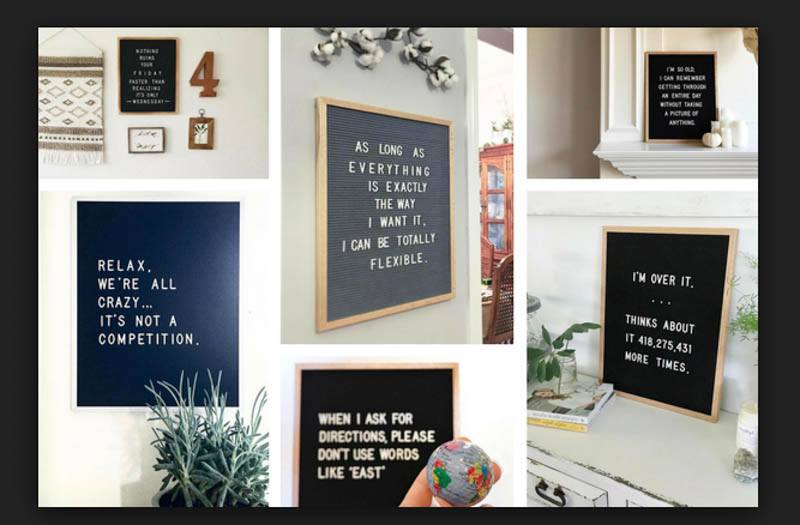 Letter board featured